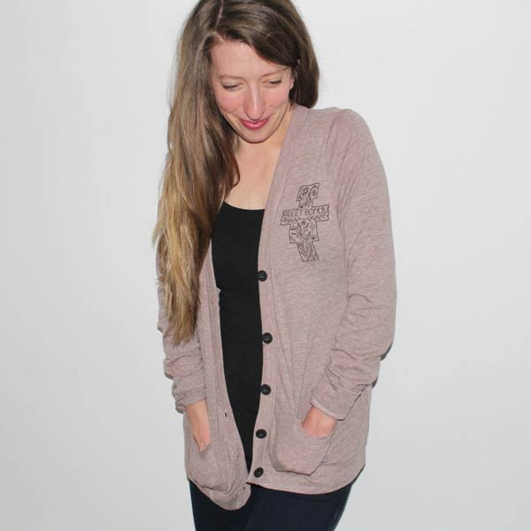 Brown Women's Cardigan with Pockets
