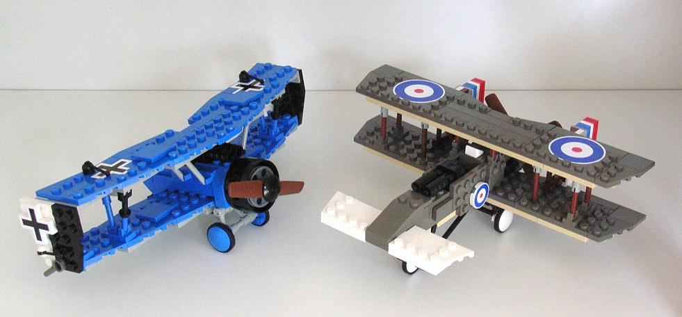 Two unconventional Great War planes, by Bogwing, on Brickshelf
