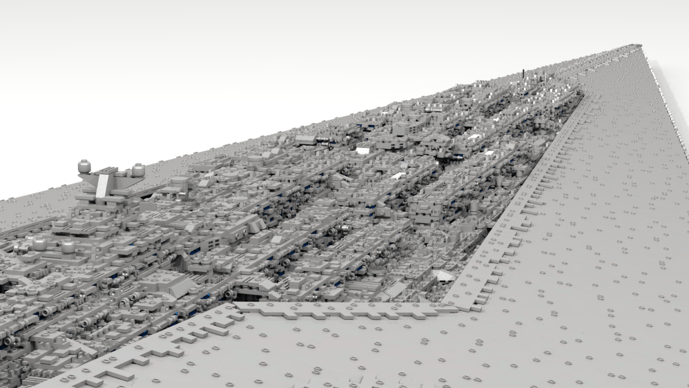 71,000 piece, 13-foot Super Star Destroyer, by Fox Hound