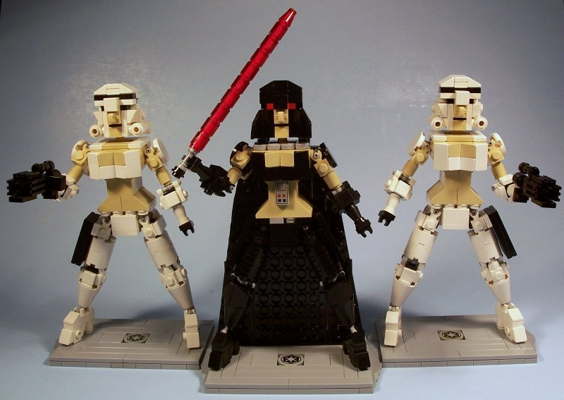 Lady Vader and her Femtroopers, by M<0><0<DSWIM, on EB