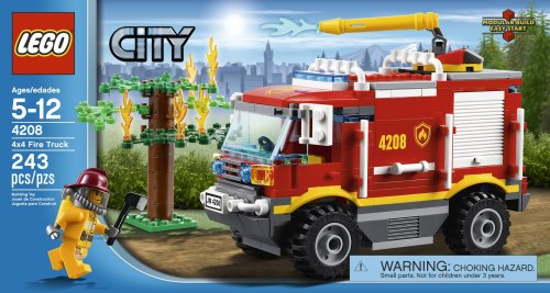 LEGO City 2012 4208 4x4 Fire Truck