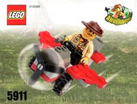 LEGO Adventurers Dino Island 5911 Johnny Thunder's Plane