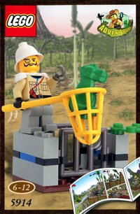 LEGO Adventurers Dino Island 5914 Sam Sanister and Baby T