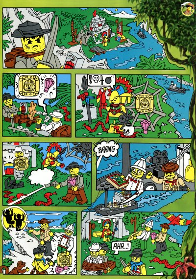LEGO Adventurers Jungle comics 5976 River Expedition