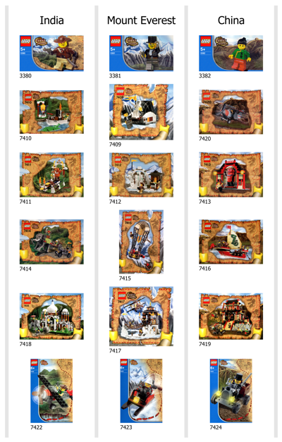 Adventurers Orient Expedition sets