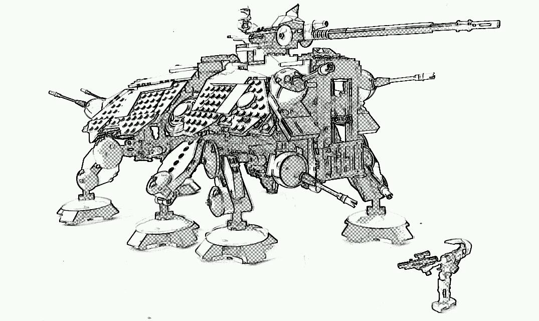 Motorised AT-TE, by VanTim, on Eurobricks