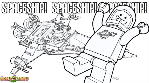 LEGO Benny Coloring Page