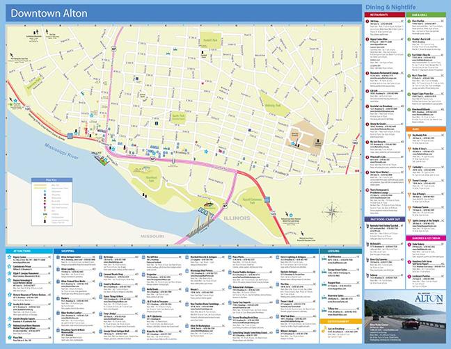 Downtown Alton, Illinois - map - BrickStreet Creative, St. Louis