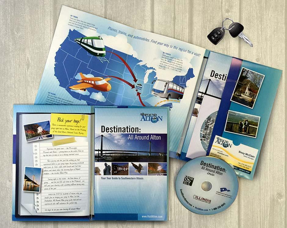 Destination Alton, Map, Brochure, Graphic Design