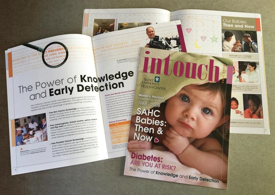InTouch Magazine, Publication, Graphic Design