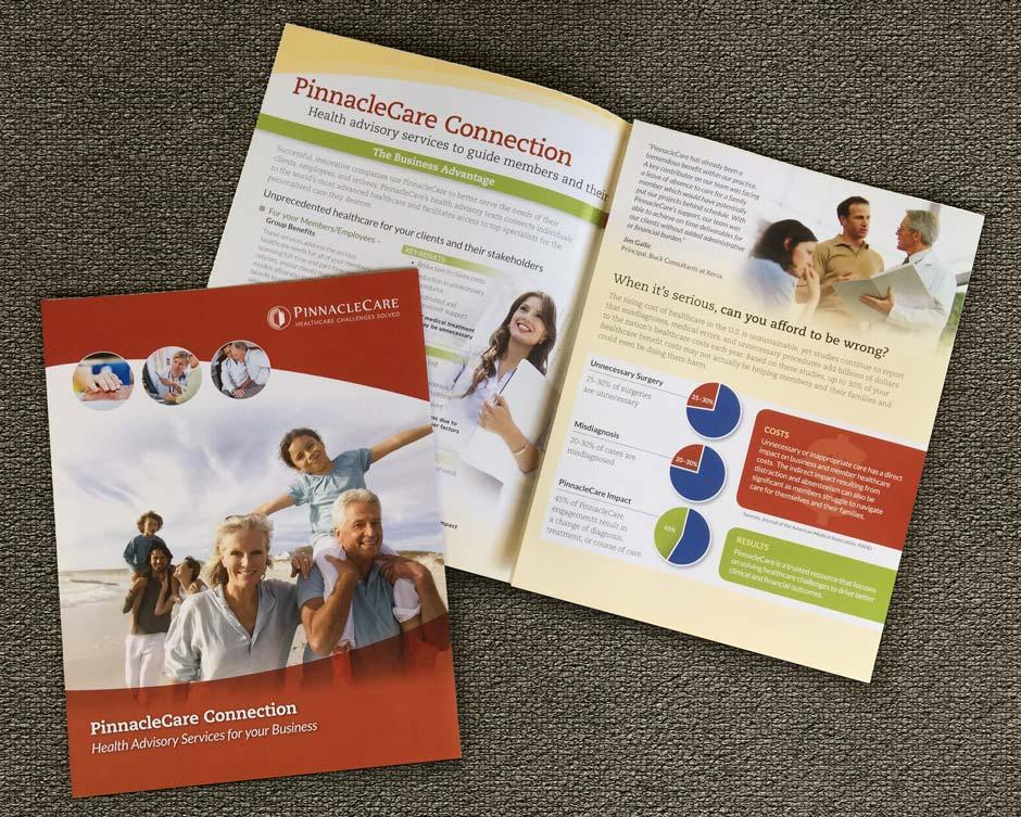 Pinnacle Care Brochure, booklet, graphic design