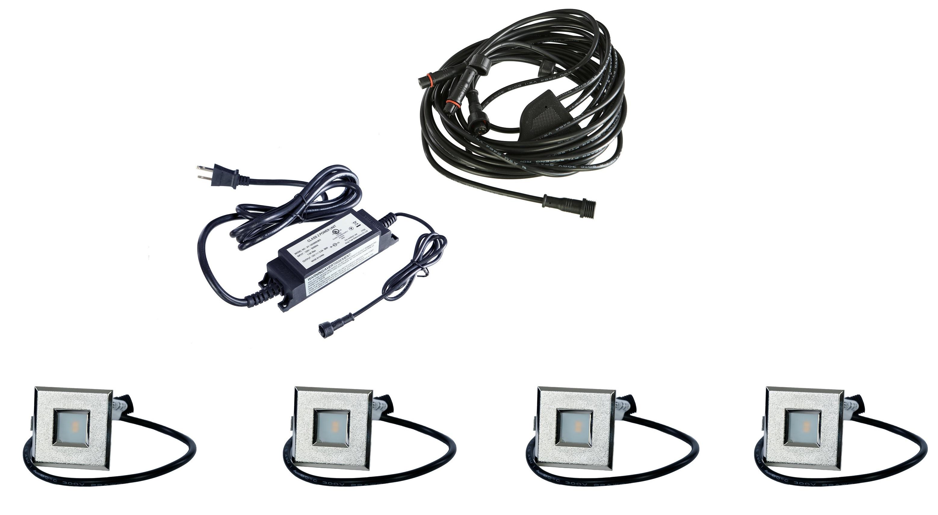 Led Outdoor Recessed Lights Kit 4 Mini Deck Lights Spring