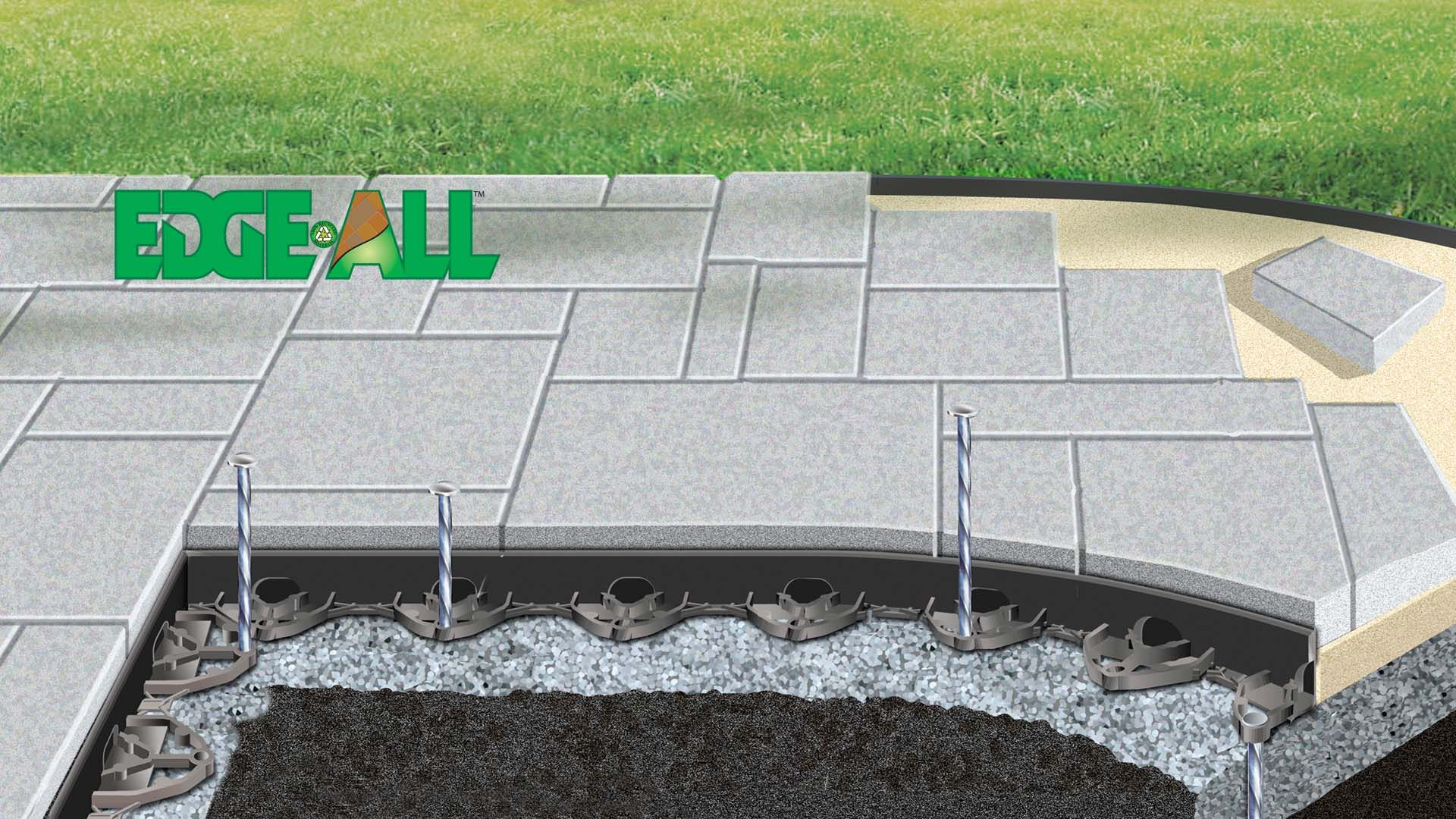 brickstop paver edging and paver edger