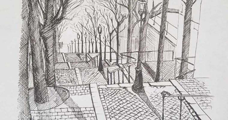 Brassaï –  Escaliers de Montmartre