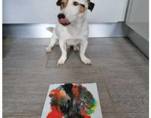 Dog painting / peinture de chien