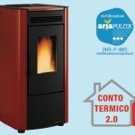 Stufa pellet bordeaux ketty evo 6