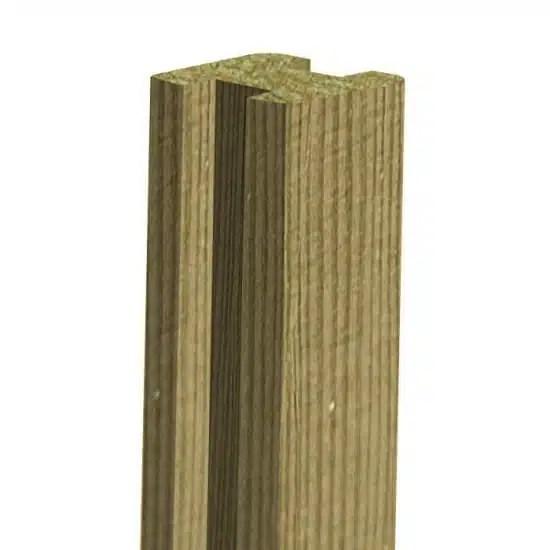 poteau cloture pin en h 90x90 mm
