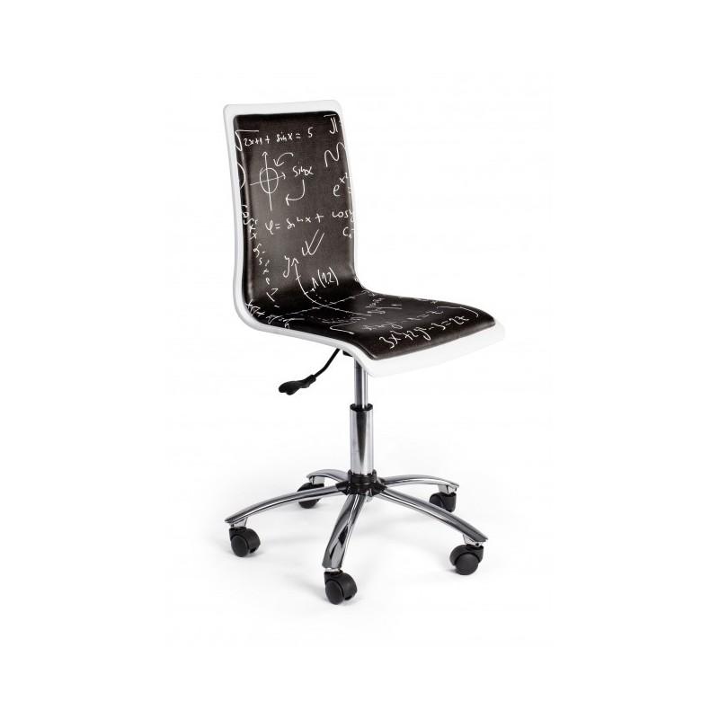 Sedie da ufficio a meno di 60 euro; Sedia Per Scrivania Con Formule Matematiche Nera Smoke Brico Casa
