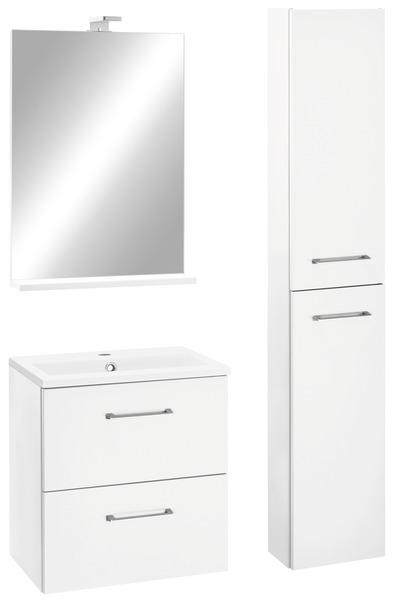 meuble slim blanc l 50 cm le plan vasque