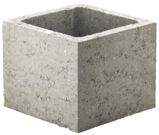 Pilier En Beton Gris L 30 X H 30 X P 25 Cm Brico Depot