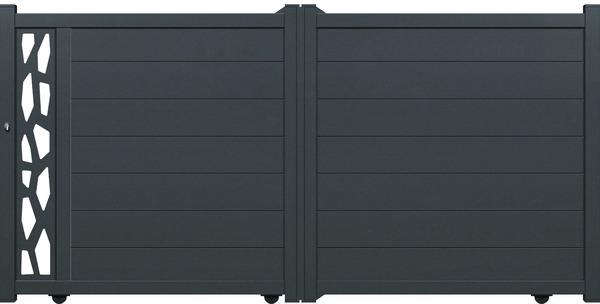 Portail Aluminium Coulissant Nova Larg 3 50 M Brico Depot