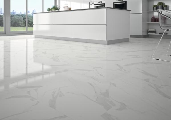 Carrelage Sol Interieur Poli Blanc Gris Ultimate Marble L 60 X L 60 Cm Brico Depot