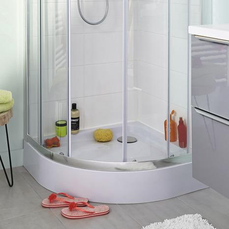 receveur d angle de douche 1 4 de cercle 80 x 80 cm acrylique cooke and lewis