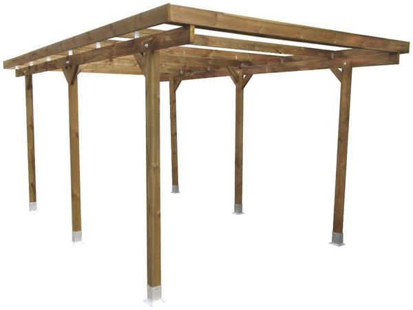 carport bois brico depot