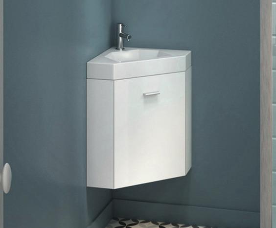 lave mains d angle blanc laque avec