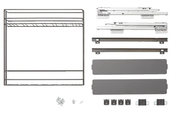 rangement coulissant meuble bas pebre 15 cm 2 niveaux goodhome