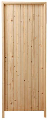 porte de service en bois poussant