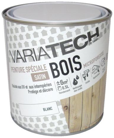 peinture acrylique satin blanc boiseries menuiseries portes etc exterieur 0 5 l variatech