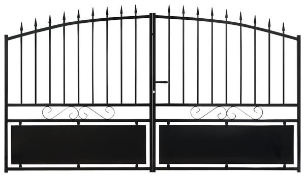 Portail Fer Battant Noir Cardiff L 3 06 X H 1 60 M Brico Depot