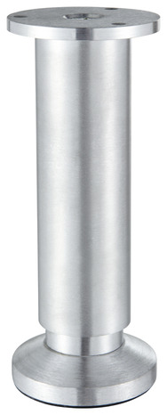 pied alu aspect inox pour caisson o 38