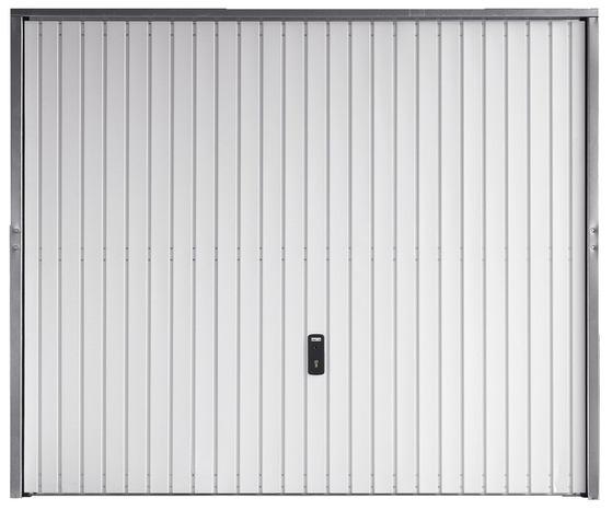 Porte De Garage Basculante En Acier Blanc Galvanis 2 X