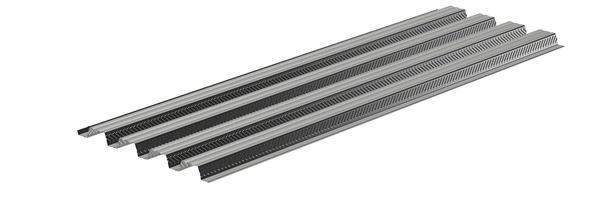 Plancher Collaborant En Acier Galvanise L 2 50 M X L 82 Cm X Ep 6 Cm