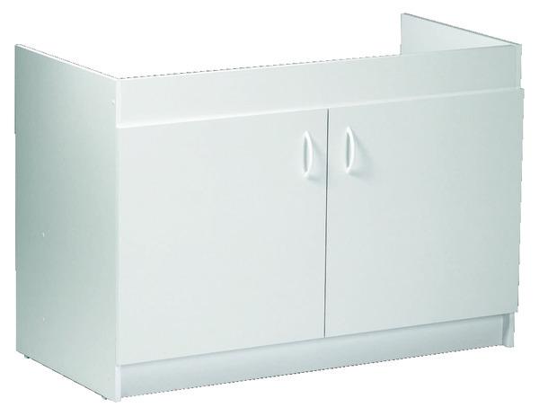 meuble sous evier 2 portes larg 120 cm