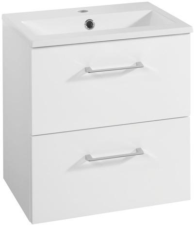 meuble sous vasque slim laque blanc