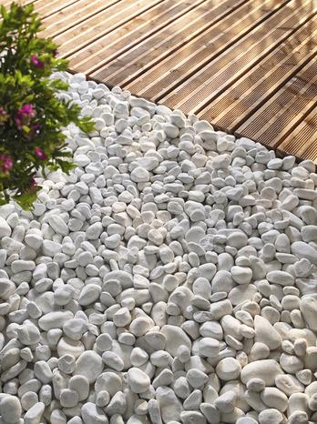 galets marbre blanc de carrare sac de 25 kg blooma