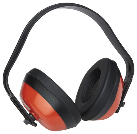 casque anti bruit noir et rouge 27 db