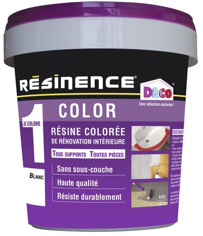resine coloree blanc pour renover et relooker les elements muraux 250 ml resinence