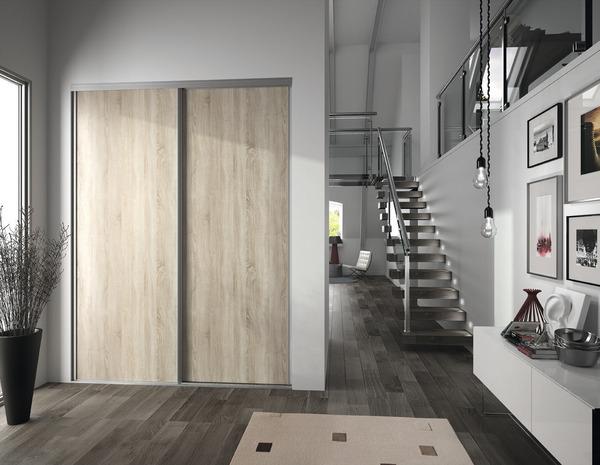 porte de placard coulissante valla h 247 5 x l 92 2 cm chene clair form