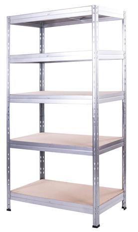 etagere garage bois metal exa 5 tablettes h 180 x l 90 x p 45 cm form