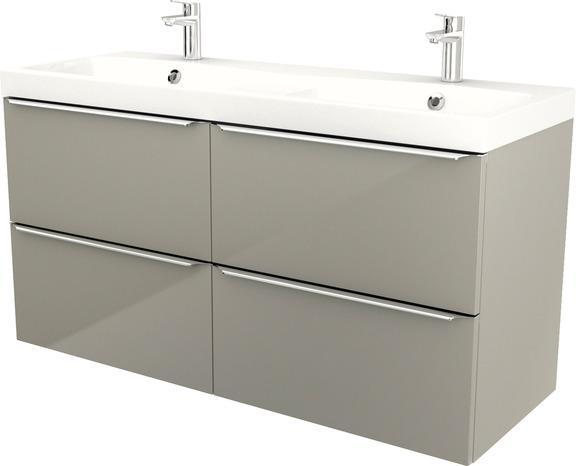 Plan Double Vasques A Encastrer En Ceramique Lana L 120 X H 14 X P 45 Cm Brico Depot