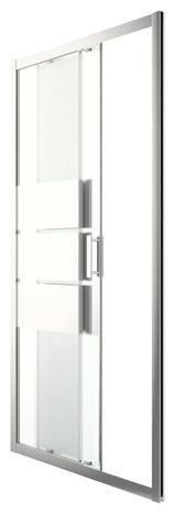 porte de douche coulissante 2 volets beloya en verre effet miroir h 192 x l 102 5 cm goodhome