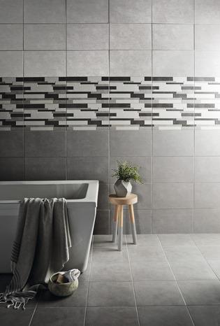 faience murale aspect beton gris clair cimenti l 40 x l 25 cm