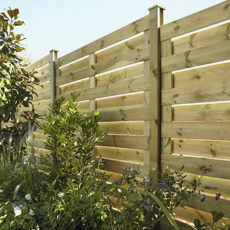 panneau bois brise vent en pin neva h 1 80 m x l 1 80 m x ep 4 5 cm blooma