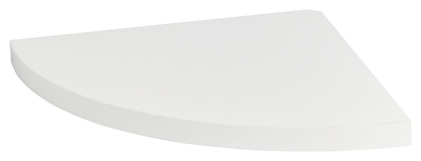 tablette d angle blanche l 25 x p 25