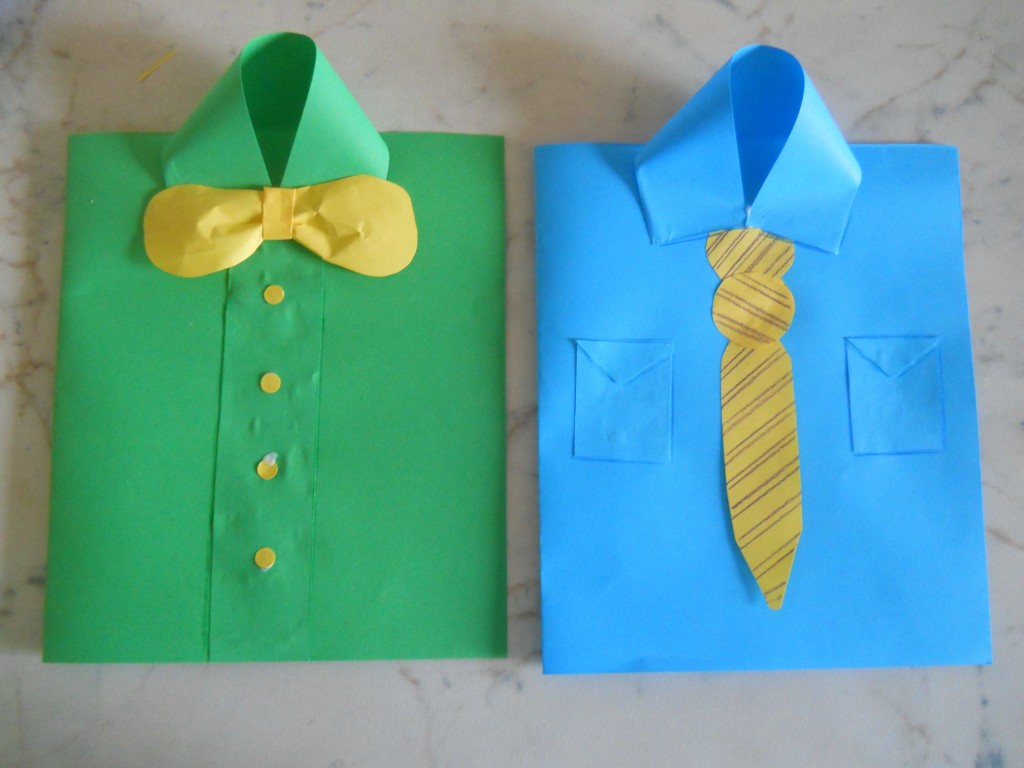 Biglietto Festa Del Papà Fai Da Te Camicia Bricolage