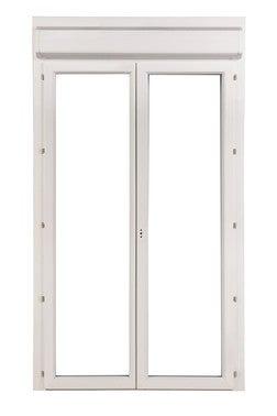 porte fenetre pvc 2 vantaux avec volet
